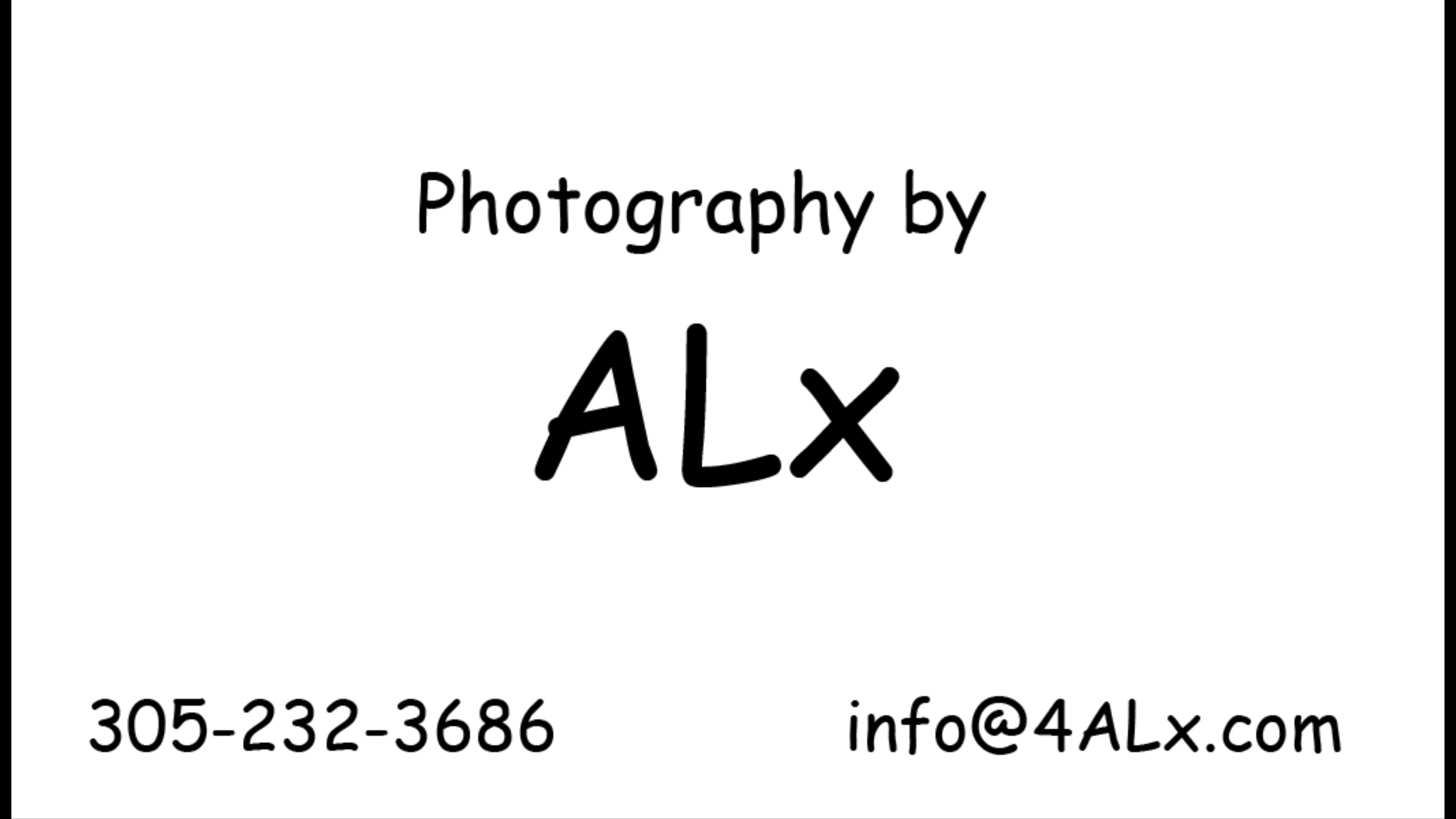"Sponsoring Photographer ""ALEX"""